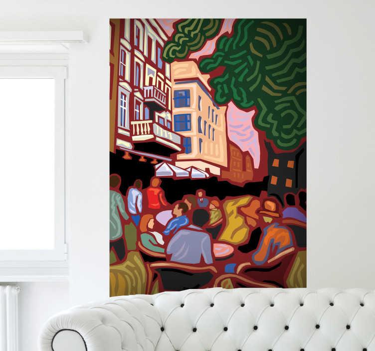 TenStickers. Naklejka malowidło Van Gogh. Naklejka dekoracyjna inspirowana dziełem postimpresjonistycznego artysty Vincenta Van Gogh'a.