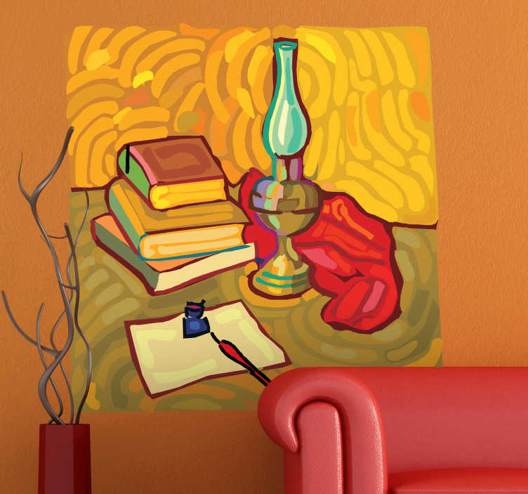 TenStickers. Van Gogh Desk Art Sticker. This wall sticker illustrates a painting of the famous painter Vincent van Gogh. An original and beautiful way to decorate your home.