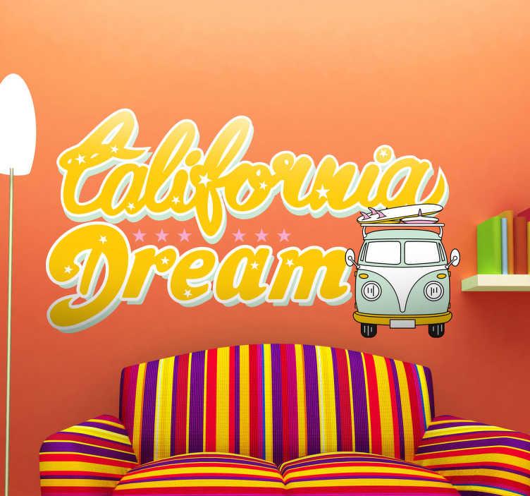 Naklejka California Dream