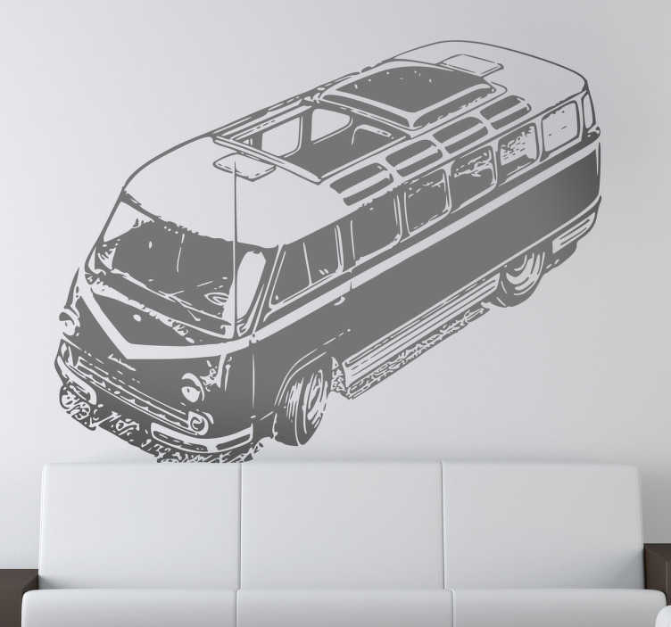 TenStickers. Classic Van Decorative Sicker. If the travelling life is for you, let visitors to you home know it! An ideal wall sticker for the bedrooms and living rooms of free spirits