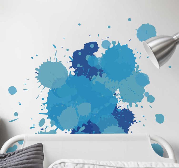 TENSTICKERS. スプラッシュ壁ステッカー. 壁に芸術的で創造的なタッチを与える塗料のスプラッシュ。ゲストや家族を驚かせる素晴らしいオリジナルのデカール。
