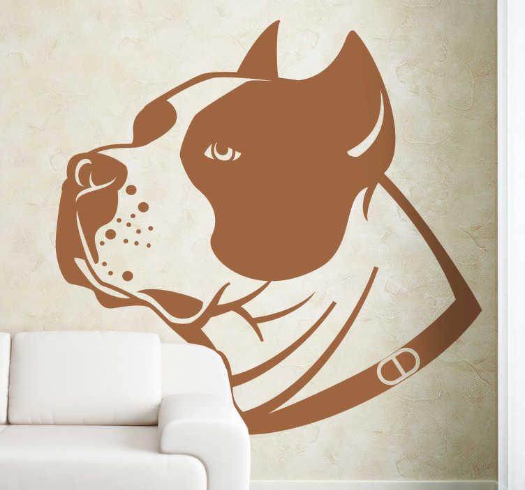 Vinilo decorativo perro stafford