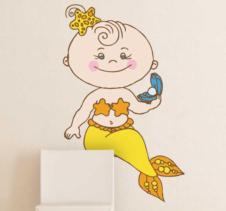 Sticker baby zeemeermin