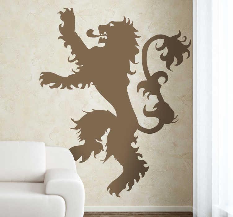 TenVinilo. Vinilo decorativo emblema Lannister. Adhesivo con el famoso león rampante característico de la esta casa de Juego de Tronos.