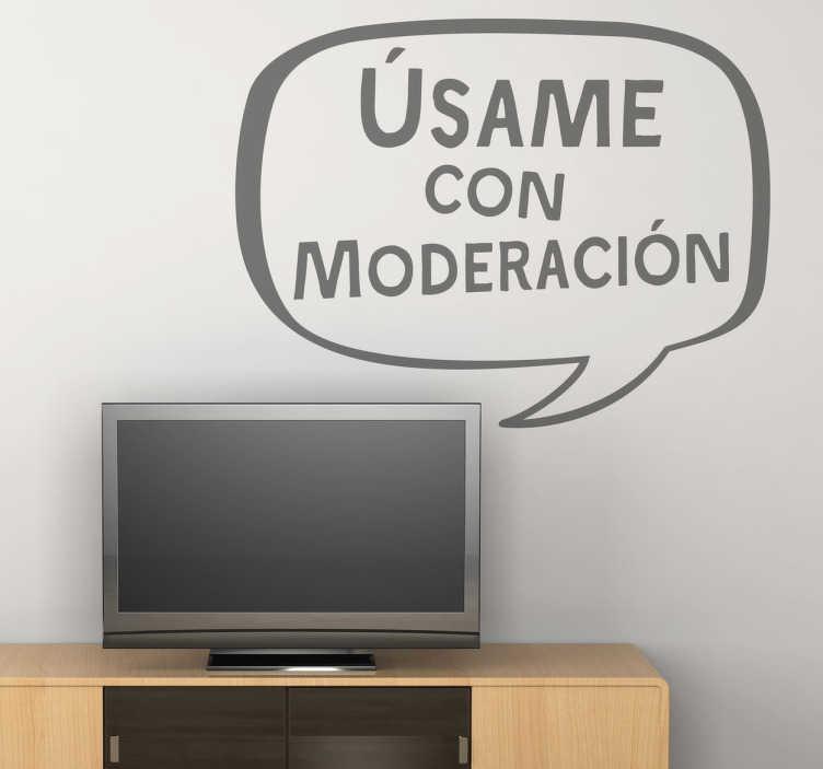 Vinilo decorativo moderacion television