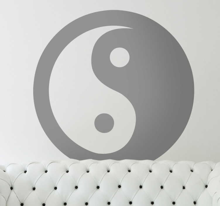 TenStickers. Yin Yang Wall Sticker. Wall sticker of the famous Chinese symbol to give your home a philosophical atmosphere, from our oriental wall stickers collection.
