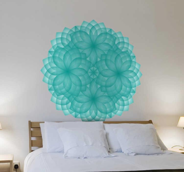 TenStickers. Wandtattoo Schneeflocken Ornament. Dekorieren Sie Ihre Wände mit diesem schönen Ornament, dass durch seine Form an eine Schneeflocke erinnert.
