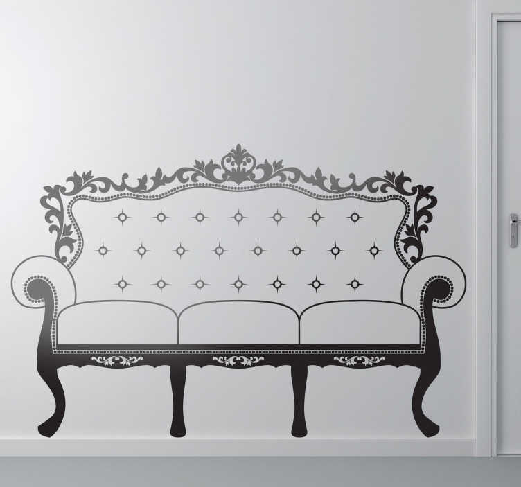 TenStickers. French Sofa Decorative Decal. This classic French sofa sticker which is brilliant for any home, restaurant, or hotel.