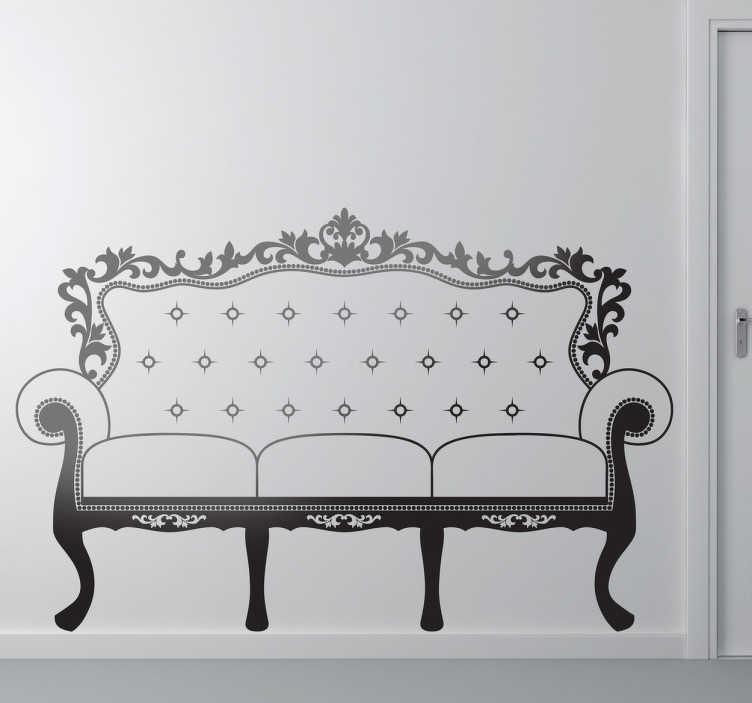 Naklejka dekoracyjna francuska sofa