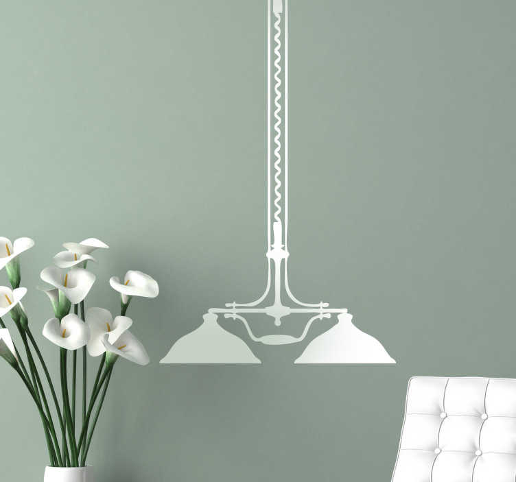TenStickers. Vintage Ceiling Light Sticker. Silhouette sticker of a hanging ceiling lamp with a classic vintage design.