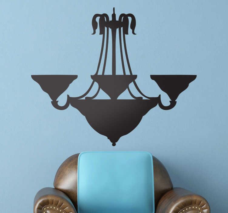 Naklejka dekoracyjna lampa sufitowa