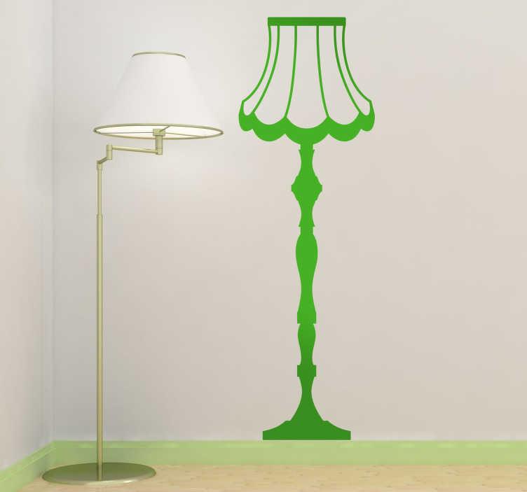 Sticker decorativo lampada da terra