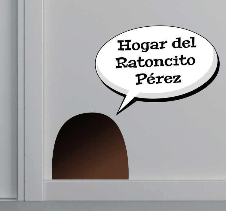 Adhesivo hogar ratoncito Pérez