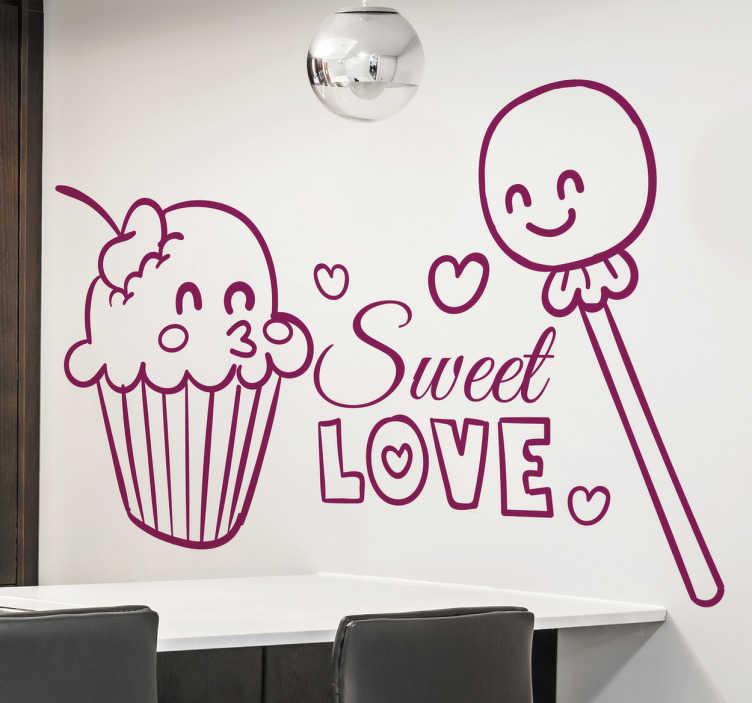 Sticker décoratif sweet love