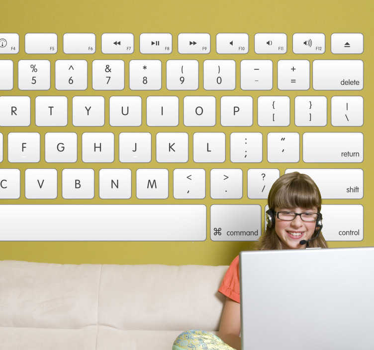 TenStickers. Computer Keyboard Sticker. A brilliant computer wall sticker illustrating a keyboard to decorate your office or your own store. Do you work in an environment where computers are used? Or do you just want to decorate the walls of your home with a unique and original design? This great keyboard decal is perfect!