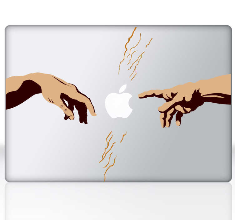 Michelangelo divine hands ipad sticker