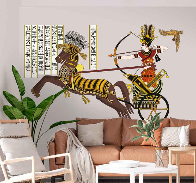 TenStickers. Ägypten Aufkleber. Interessieren Sie sich für das alte Ägypten? Dann ist dieses ausgefallene Wandtattoo die ideale Wandgestaltung für Ihr Wohnzimmer.