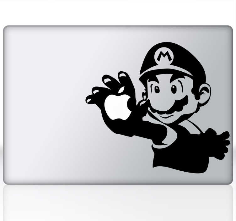 TenStickers. Autocolante decorativo para PC Mario Bros para Mac. Torna o teu macbook num dispositivo único e personalizado com este espetacular autocolante decorativo para macbook do Super Mario!