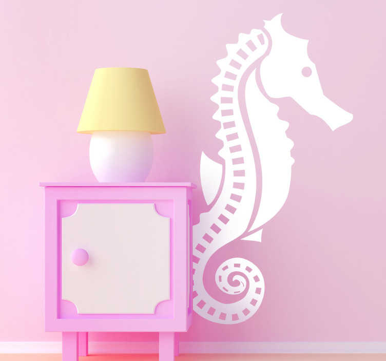 TenStickers. Seahorse Wall Sticker. Wall Stickers - Illustration of a seahorse. Ideal for decorating any room in your home.