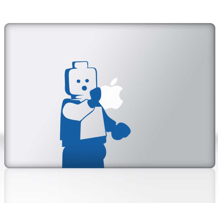 TenVinilo. Vinilo decorativo Lego para Mac. Personaliza tu dispositivo Mac con un adhesivo decorativo. Apple y lego, dos míticas marcas reunidas en una pegatina adhesiva.