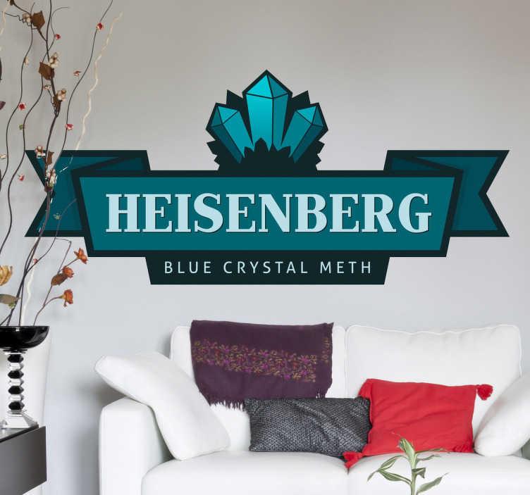 TenVinilo. Adhesivo logotipo Heisenberg. Adhesivo de una marca basada en la serie de éxito Breaking Bad. Vinilos decorativos para seriófilos y seguidores de la vida de Walter White.