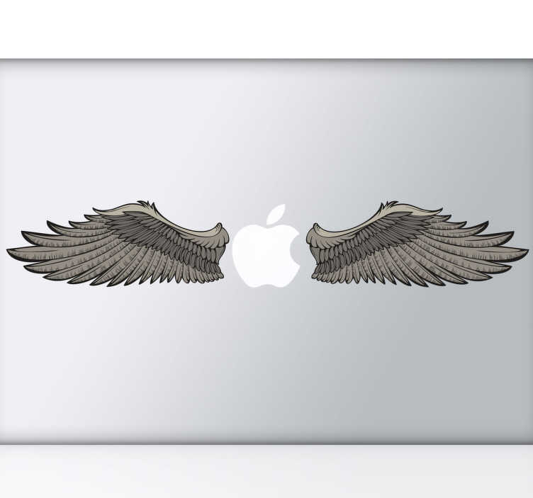 TenStickers. Wings Laptop Sticker. Laptop Stickers - Mac Stickers - illustration of wings. Great for customising your laptop.