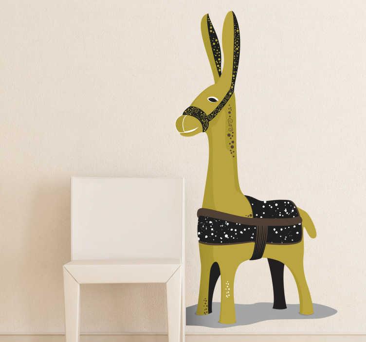 TenVinilo. Vinilo decorativo burro. Decora la habitación de tus hijos con este adhesivo de una mula.