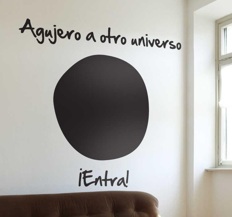TenVinilo. Vinilo decorativo agujero universo. Si quieres trasladarte a otro cosmos te lo ponemos fácil con este curioso adhesivo.