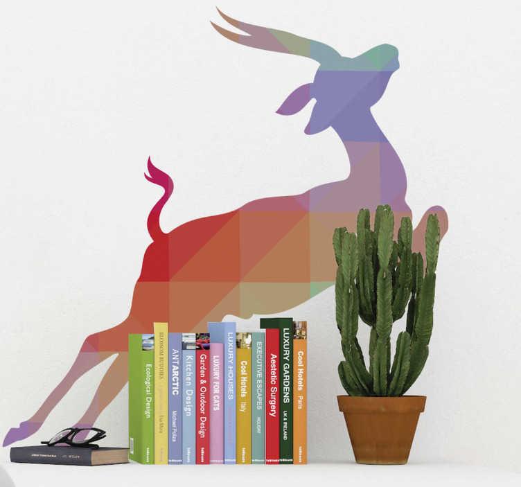 TenStickers. Autocollant mural antilope. Stickers mural illustrant une antilope.Sélectionnez les dimensions et la couleur de votre choix.Idée déco originale et simple pour votre intérieur.