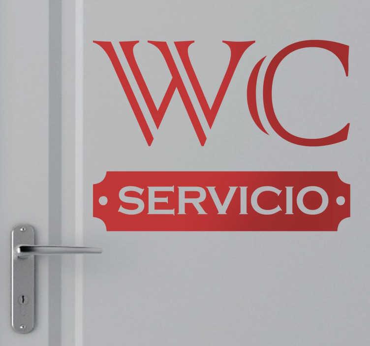 TenVinilo. Vinilo decorativo señalizacion WC. Indica de una manera elegante con este adhesivo dónde se encuentran los aseos.