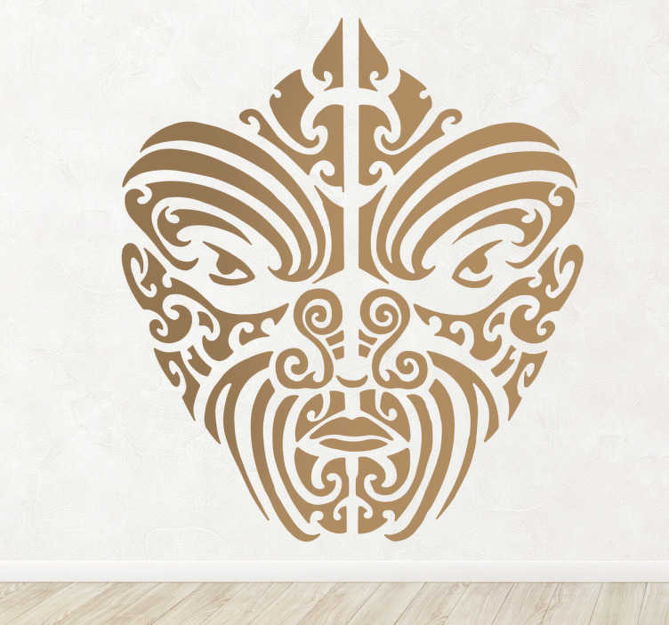 TenStickers. Maori Motifs Wall Sticker. An original decal illustrating a Maori tattoo! A superb design for those who love Maori tattoos and know about its background.