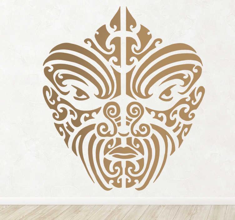 Vinil Decorativo Retrato Maori