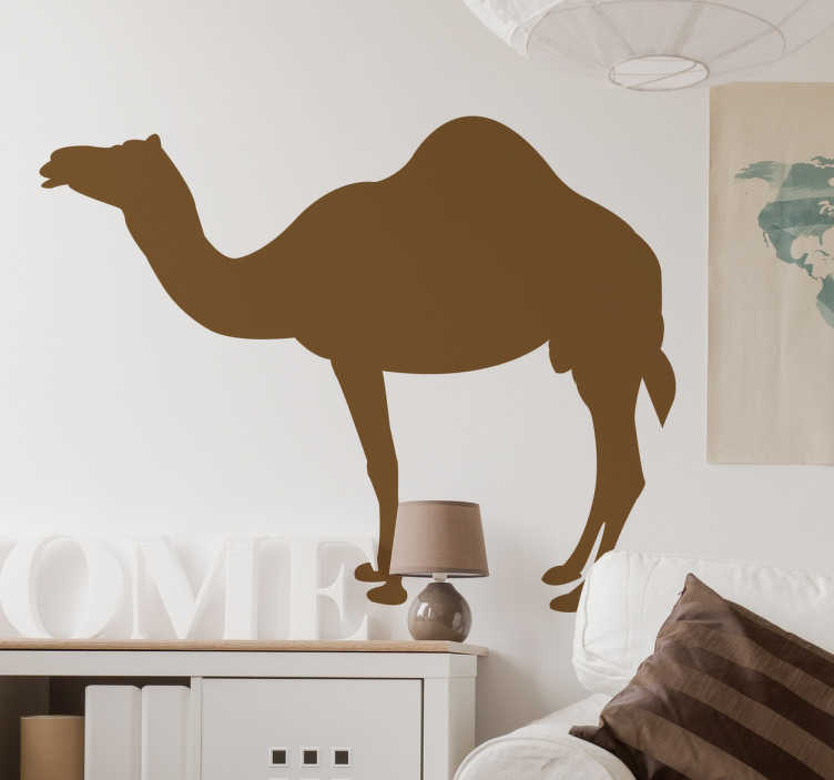 TenStickers. Camel Silhouette Wall Sticker. Wall Stickers  - Silhouette design of a Camel. Distinctive and ideal for decorating any space. Select a size and colour.