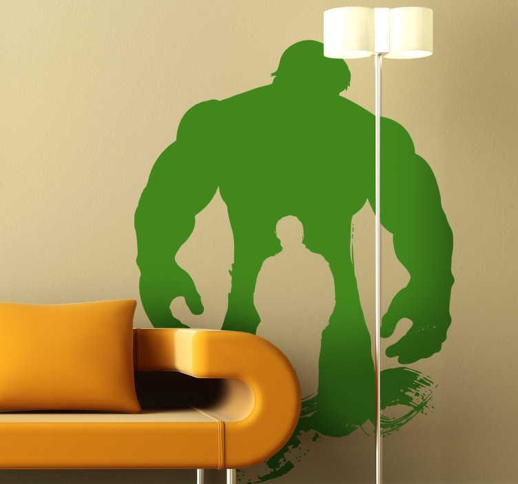 Adesivo bambini silhouette hulk   tenstickers