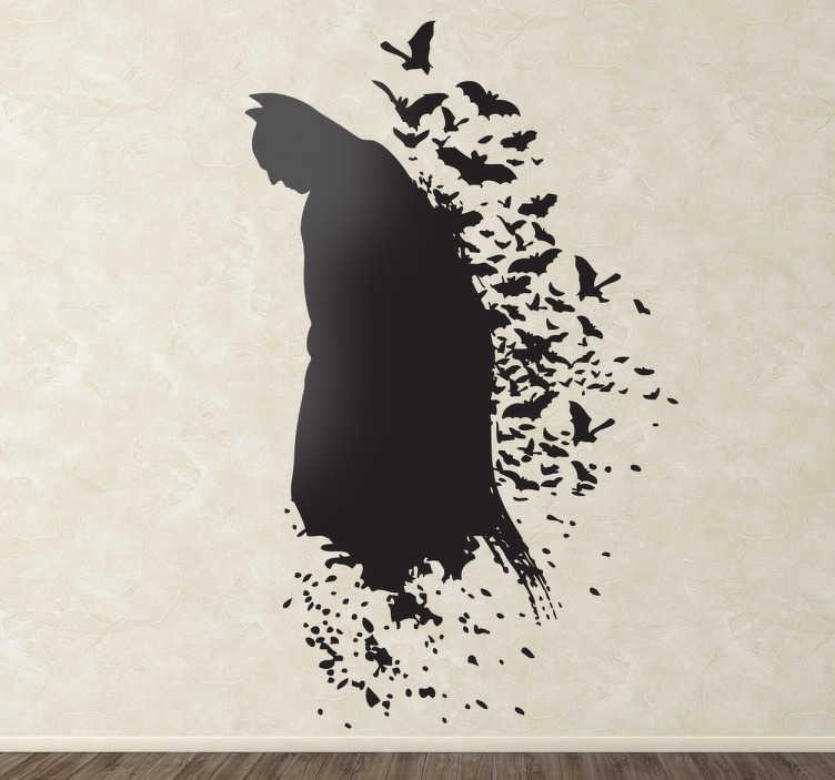 TenVinilo. Vinilo silueta hombre murciélago. Artística representación en adhesivo de este famoso y enmascarado personaje de cómic.