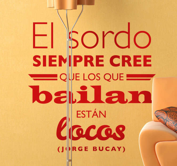 Vinilo decorativo texto Jorge Bucay