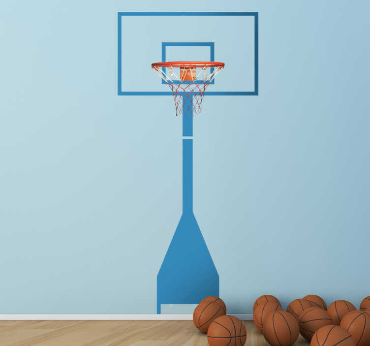 TenStickers. Basketball Ring Wall Sticker. Wall sticker of a basketball ring for those that love this fascinating sport. Play at home like a professional!