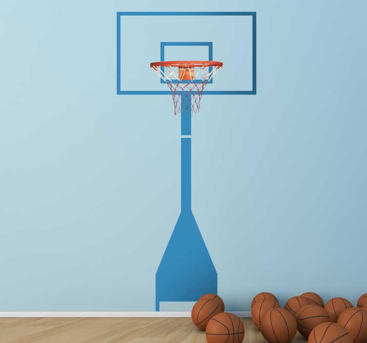 Naklejka dekoracyjna kosz koszykówka