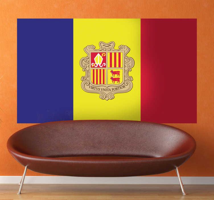 Vinilo decorativo bandera Andorra