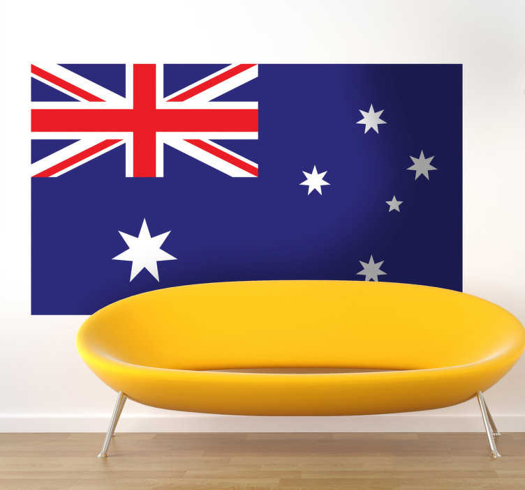 TenStickers. Flag of Australia Wall Sticker. Wall Stickers - Wall mural of the Australian flag. Ideal for those who adore the country and its culture.