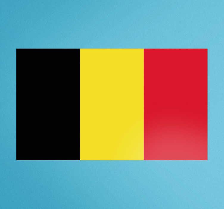 TenStickers. Muursticker vlag België woonkamer. Belgie muursticker en Belgische vlag muursticker. Belgie vlag raam sticker, geschikt voor Belgie muursticker vlag en Belgie vlag wandstickers.