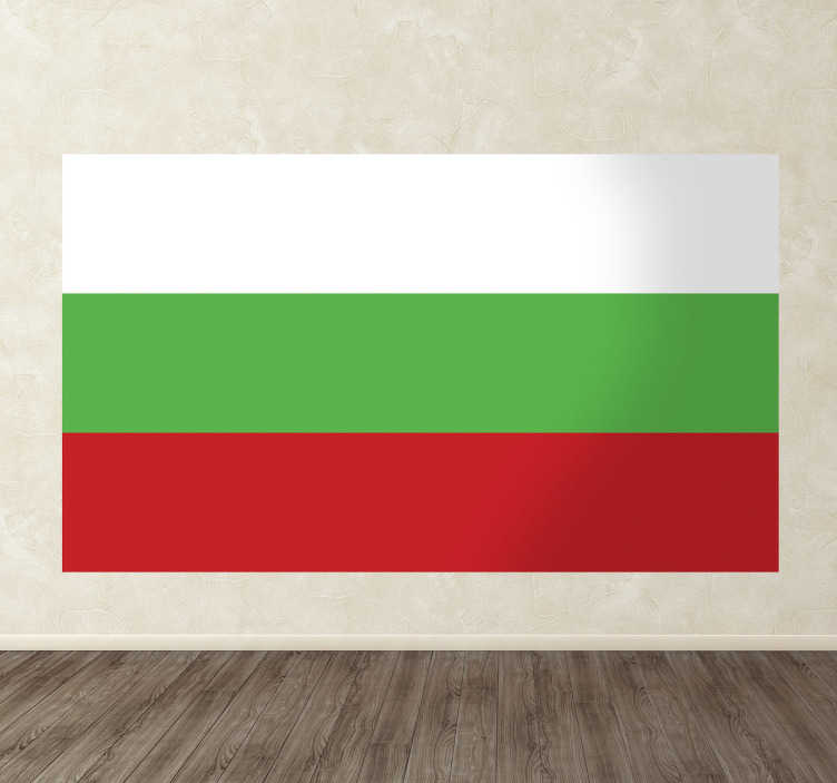 TenStickers. Flag of Bulgaria Wall Sticker. Wall Stickers - Bulgarian flag wall mural. Available in various sizes.