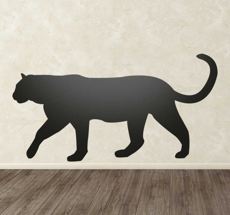 TenStickers. Panther Silhouette Wall Sticker. Wall Stickers  - Silhouette design of a Panther. Distinctive and ideal for decorating any space. Select a size and colour.