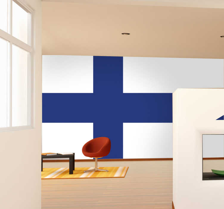 TenStickers. Finland Flag Sticker. Decals - The Finnish flag. Ideal for homes or businesses. Suitable for decorating gadgets and appliances. Available in various sizes.
