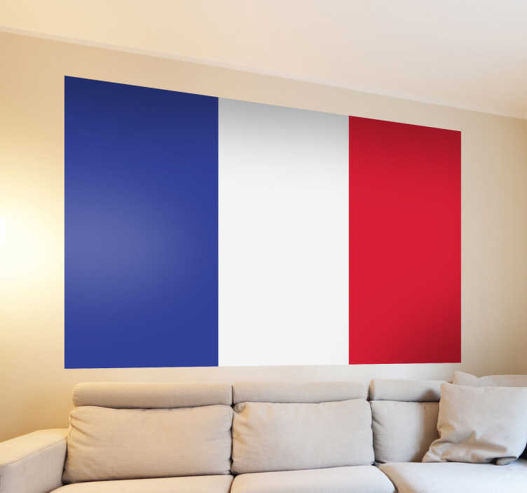 Naklejka na ścianę flaga Francja