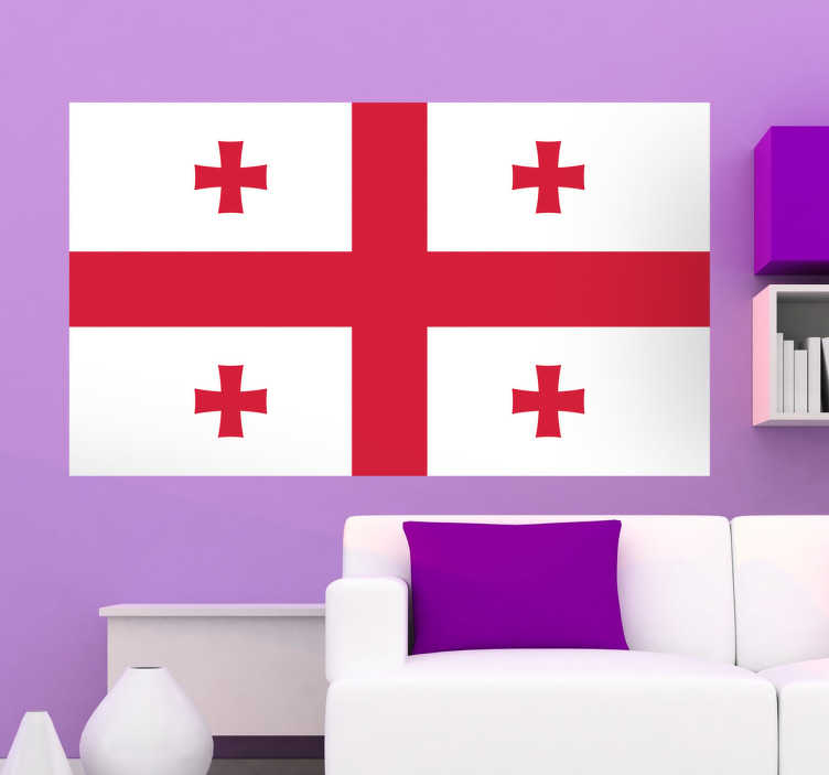 TenStickers. Georgia Flag Sticker. Decals - The Georgian flag. Ideal for homes or businesses. Suitable for decorating gadgets and appliances. Available in various sizes.