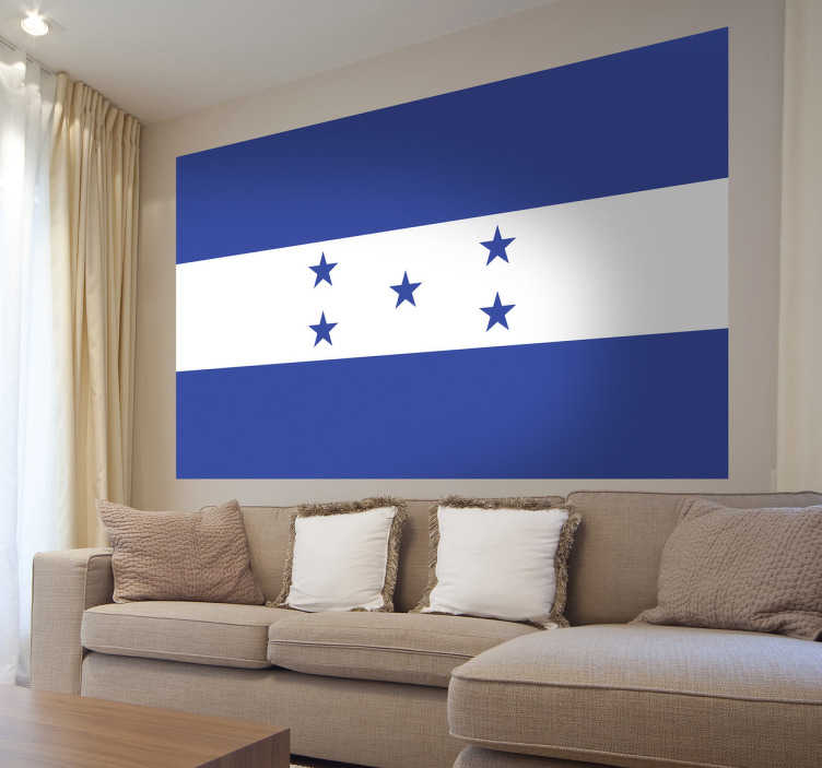 TenStickers. Honduras Flag Sticker. Decals - The Honduran flag. Ideal for homes or businesses. Suitable for personalising gadgets and appliances. Available in various sizes.