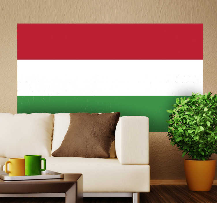 TenStickers. Hungary Flag Sticker. Decals - The Hungarian flag. Ideal for homes or businesses. Suitable for personalising gadgets and appliances. Available in various sizes.