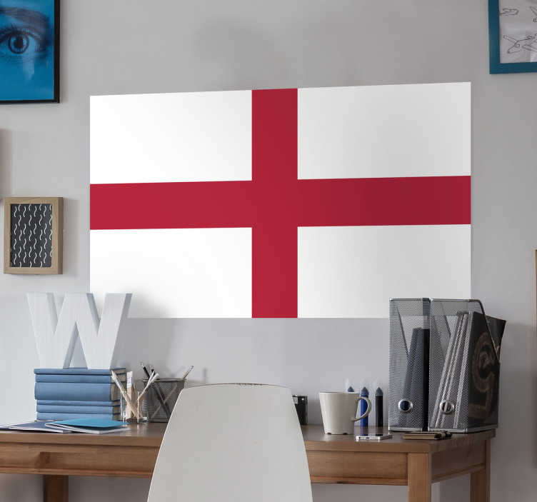 TenStickers. England Flag Sticker. Decals - The English flag - St George´s cross. Ideal for homes or businesses. Suitable for personalising gadgets and appliances.