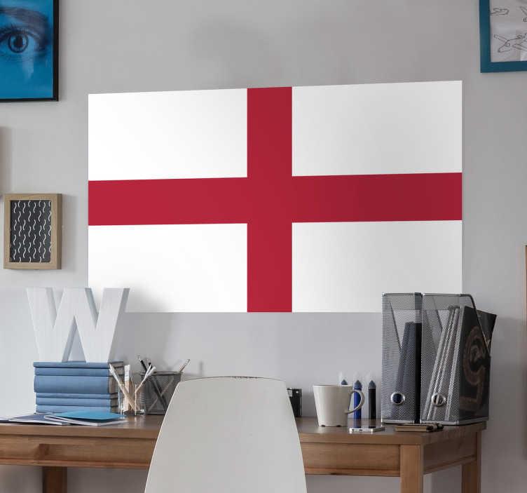 TenStickers. Muursticker vlag Engeland. Deze sticker illustreert de vlag van Engeland, ideaal voor grote fans van dit land. Afmetingen aanpasbaar. Voordelig personaliseren.